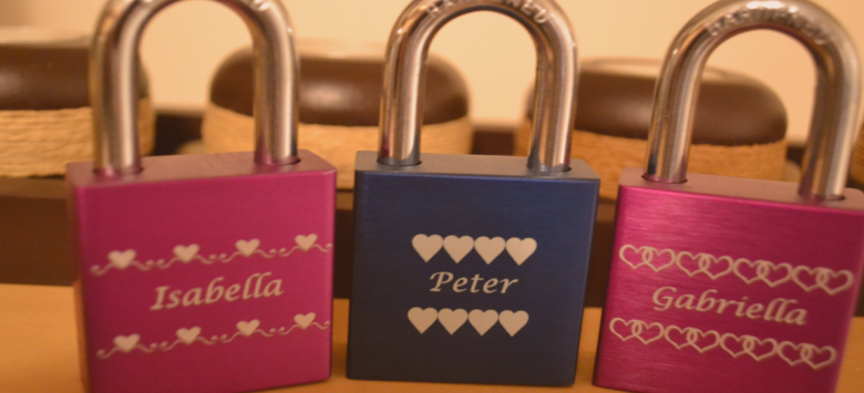 Love Locksrepresent a desire and spirit of locking love for lovers in the form of engraved padlocks forever.