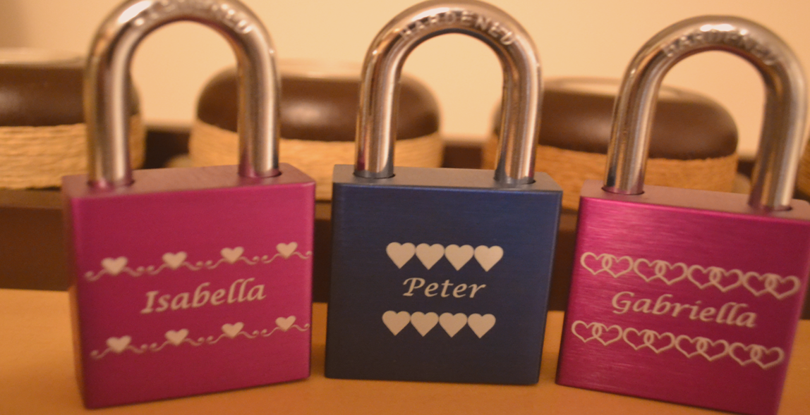 Love Locks represent a desire and spirit of locking love for lovers in the form of engraved padlocks forever.